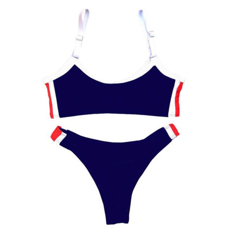 Catch the waves - Bikini Set (Blue) - saucedoutfittersnyc