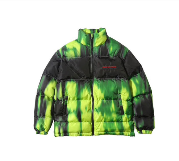 SAUCED. TIE DIE PUFFER JACKET - SAUCED