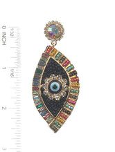 Load image into Gallery viewer, Earring Evil Eye Post Multi-color