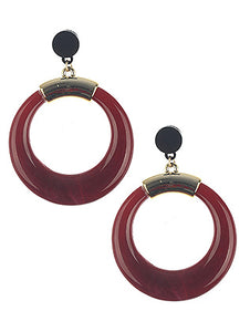 Earring Natural Stone Finish Ring Dangle