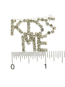 Pin And Brooch Kiss Me Paved Crystal Stone Clear