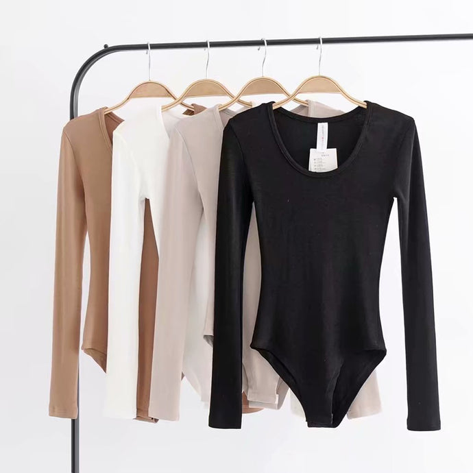 Women's Club Long Sleeve Skinny Playsuits O-neck Body Suits