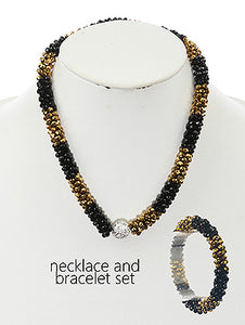 Necklace Microbead Cluster Twist Stretch Bracelet And Multi-color