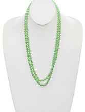 Load image into Gallery viewer, Necklace Iridescent Bead Extra Long Bead