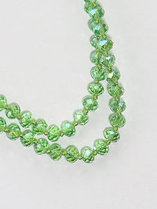 Necklace Iridescent Bead Extra Long Bead