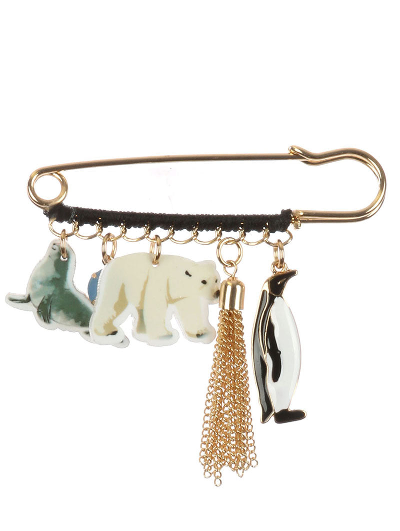 Pin And Brooch Marine Animal Charm Multi-color