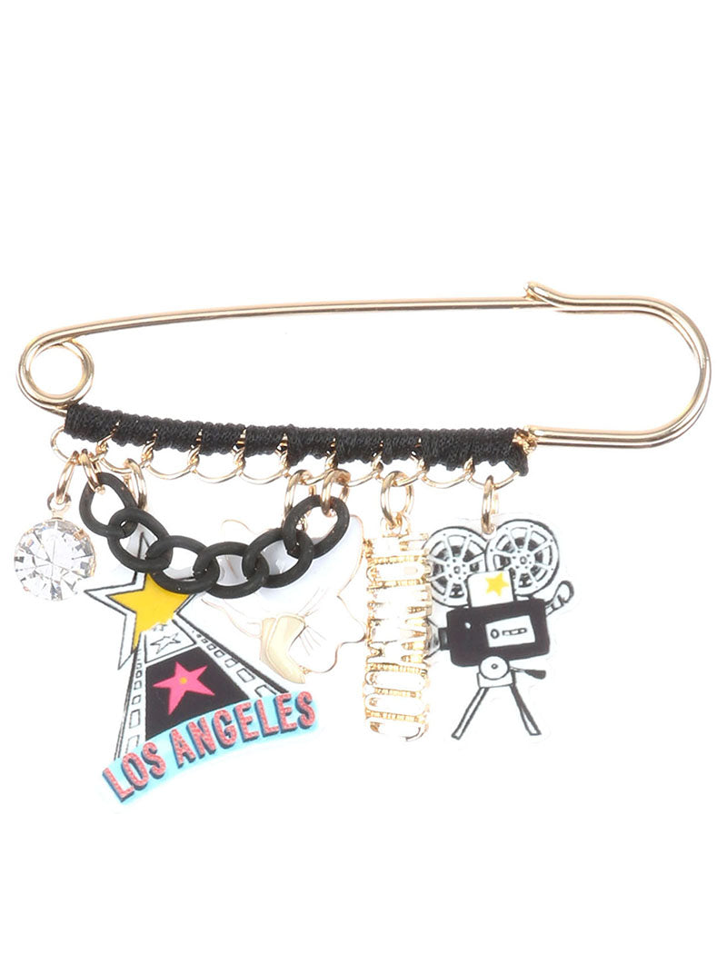 Pin And Brooch Hollywood Charm Multi-color