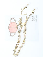 Load image into Gallery viewer, Necklace Metal Link Maskclip Cosmetic Product Gold