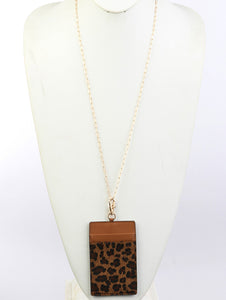 Necklace Link Animalprint Idcard