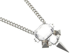 Necklace Spike Design Link Clear