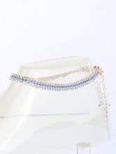 Load image into Gallery viewer, Anklet 2mm Rhinestone 3 Pcs Set Blue