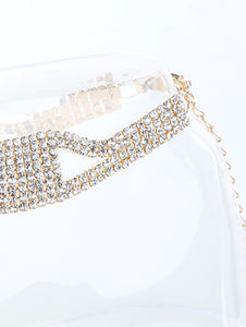 Anklet 8 Line Crystal Stone Clear
