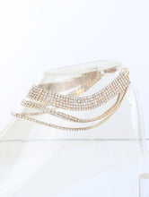 Load image into Gallery viewer, Anklet 2mm Rhinestone 3 Row Clear