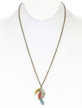 Load image into Gallery viewer, Necklace Tucan Charms Link Multi-color