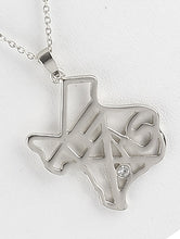 Load image into Gallery viewer, Necklace State Of Texas Cutout Metal Pendant Silver