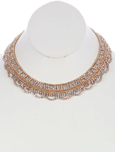 Load image into Gallery viewer, Necklace Layered Chain Rhinestone Choker Clear