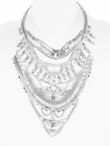 Necklace Vintage Style Statement Bib Clear
