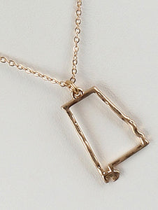 Necklace State Of Alabama Charm Gold