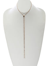 Load image into Gallery viewer, Necklace Front And Backdrop Rhinestone Slider Choker Clear