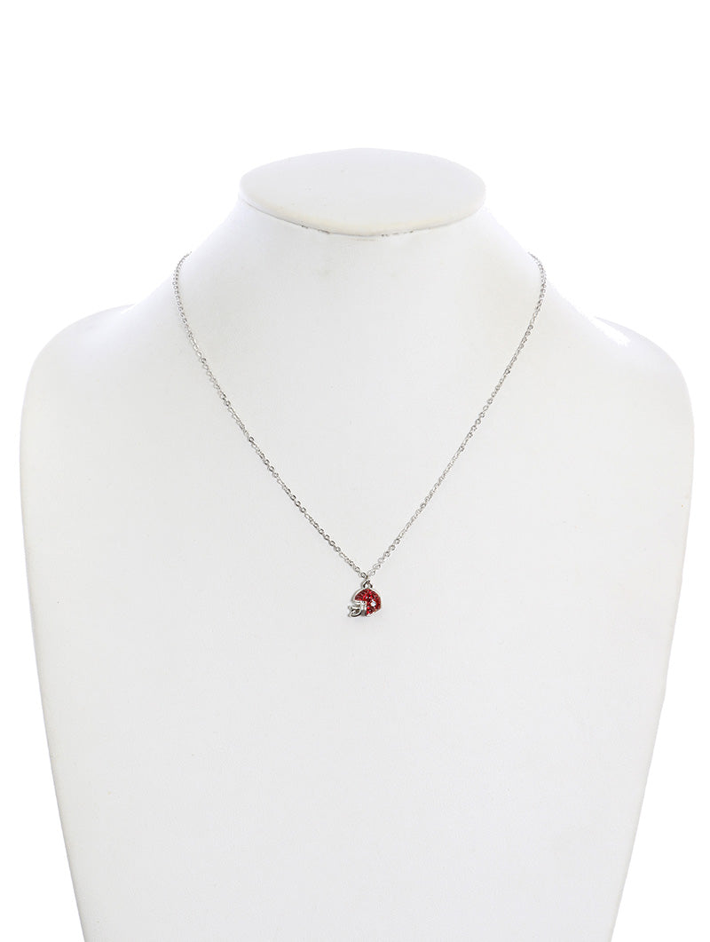 Necklace Football Red Team Red