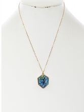 Load image into Gallery viewer, Necklace Faceted Lucite Stone Pendant Multi-color