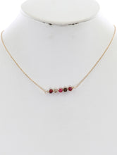 Load image into Gallery viewer, Necklace Faceted Translucent Stone Natural Marble Stone Multi-color