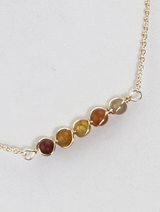 Necklace Faceted Translucent Stone Natural Marble Stone Multi-color