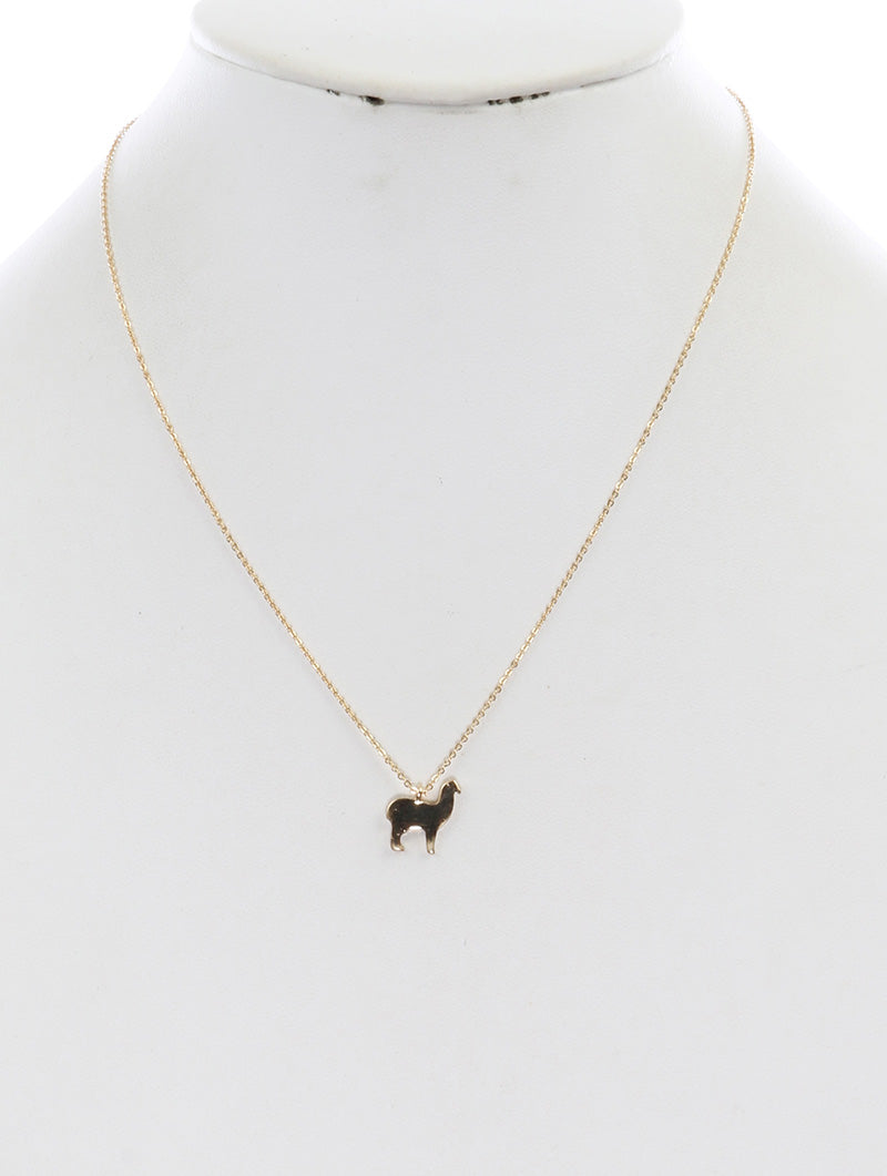 Necklace Dog Charm 18 Inch Long Gold
