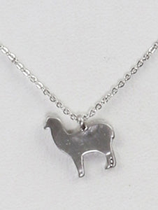 Necklace Dog Charm 18 Inch Long Silver