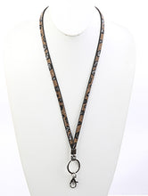Load image into Gallery viewer, Necklace Id Holder Suede