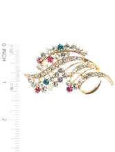 Load image into Gallery viewer, Pin And Brooch Crystal Stone Metal Bouquet Multi-color
