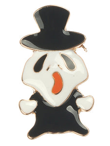 Pin And Brooch Epoxy Coated Metal Halloween Ghost