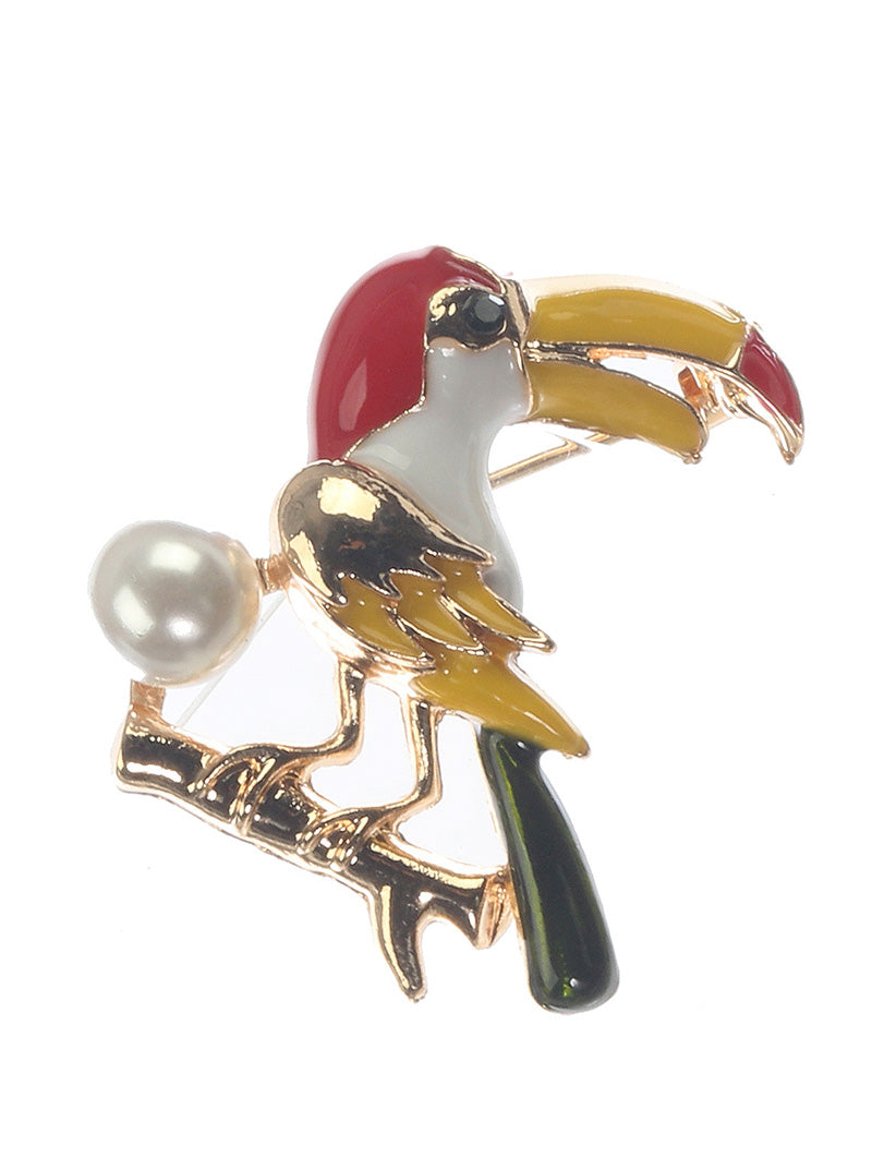 Pin And Brooch Bird Crystal Stone Multi-color
