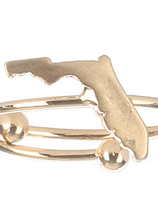 Ring State Of Florida Cuff Gold