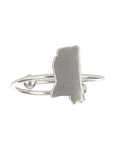 Ring State Of Mississippi Cuff Silver