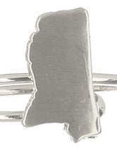 Load image into Gallery viewer, Ring State Of Mississippi Cuff Silver