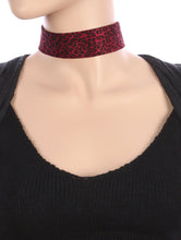 Load image into Gallery viewer, Necklace Leopard Print Fabric Choker