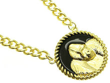 Load image into Gallery viewer, Necklace Link Metal Chain Black