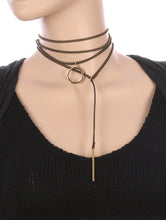 Load image into Gallery viewer, Necklace 2 Pc Faux Suede Choker