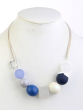 Load image into Gallery viewer, Necklace Bead Ball 17 Inch Long Blue