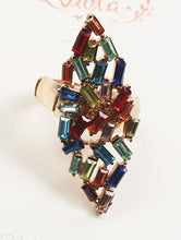 Load image into Gallery viewer, Ring Victorian Style Crystal Stone Multi-color