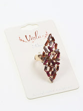 Load image into Gallery viewer, Ring Victorian Style Crystal Stone Pink