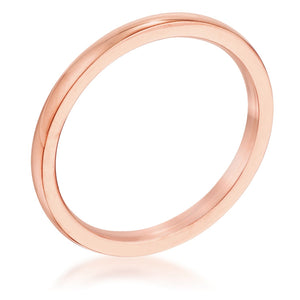 2 Mm18 Kt Rose Goldtone Stainless Steel Wedding Band