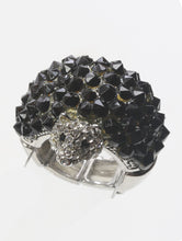 Load image into Gallery viewer, Ring Mole Crystal Stone Black