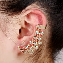 Load image into Gallery viewer, Animal earring Exquisite Crystal Peacock Ear Cuff - Haute Swan LLC