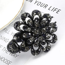 Load image into Gallery viewer, Fashion Colorful Flower Rhinestone Crystal Hair Claw Clip Hair Accessories - Glitzy Swan