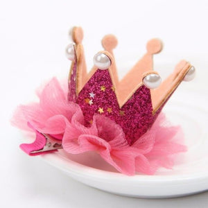 Nishine Girl's Head Accessories Hairband Shiny Cute Princess Children Tiara Hair Band Hair Clip Kids Elastic Crown Headwear - Glitzy Swan