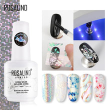 Load image into Gallery viewer, ROSALIND Transfer Gel Nail Polish Kit Need Tranfer Sticker For Manicure Nail art Set Gel lacquer Base top Coat Varnishes - Haute Swan LLC