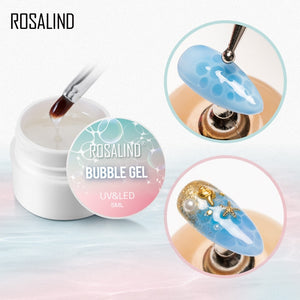 ROSALIND Bubble Gel Varnish Set Blossm Water Painting Gel Nail Polish Hybrid Lacquer Top Base For Nail Art Manicure Kit - Haute Swan LLC
