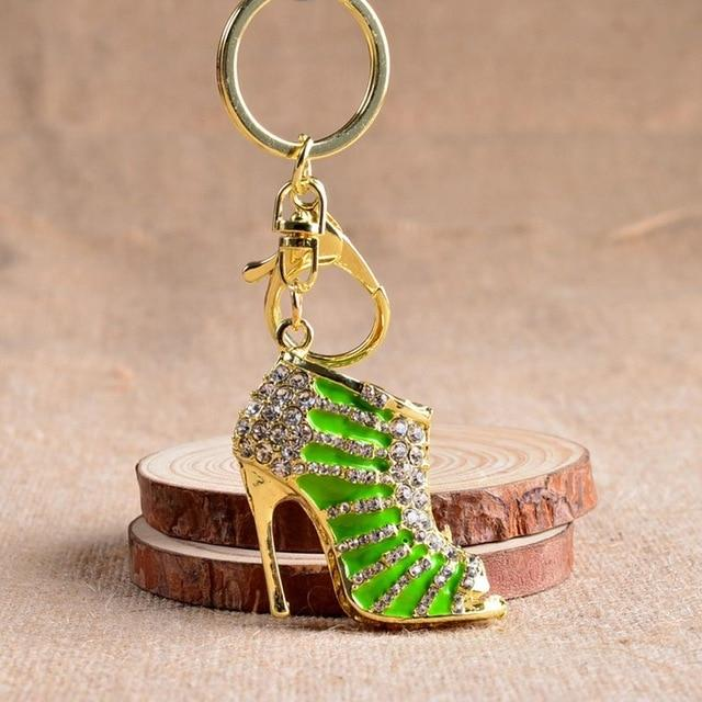 High Heel Shoes Purse Pendant Key Chain - Beautiful Affordable - Glitzy Swan